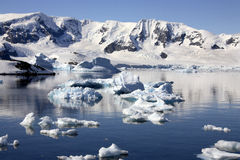 Ant3artida - bahía del paraíso Foto de archivo libre de regalías