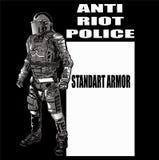 ANTA chaos policja zdjęcia stock