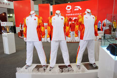 Anta stand. The partner of  Chinese Olympic Committee Stock Photo
