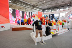 Anta stand. The partner of  Chinese Olympic Committee Stock Image