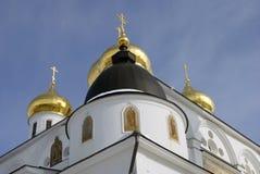 1507 1533 antagande byggde domkyrkaår Kreml i Dmitrov, forntida stad i Moskvaregion Royaltyfri Bild