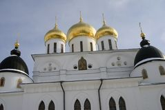 1507 1533 antagande byggde domkyrkaår Kreml i Dmitrov, forntida stad i Moskvaregion Royaltyfri Foto