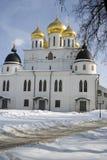 1507 1533 antagande byggde domkyrkaår Kreml i Dmitrov, forntida stad i Moskvaregion Arkivbilder