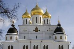 1507 1533 antagande byggde domkyrkaår Kreml i Dmitrov, forntida stad i Moskvaregion Royaltyfri Fotografi