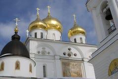 1507 1533 antagande byggde domkyrkaår Kreml i Dmitrov, forntida stad i Moskvaregion Royaltyfria Foton