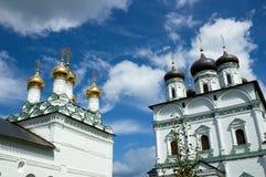 Antagandedomkyrka av den Joseph-Volokolamsk kloster, Moskva Arkivbild