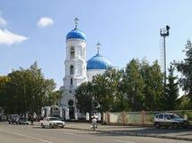 Antagandedomkyrka i Biysk Arkivbilder