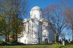 Antagandedomkyrka i den gamla Ladoga Uspensky kloster Gammala Ladoga Royaltyfria Bilder