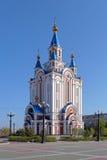 Antagandedomkyrka i Khabarovsk, Ryssland Royaltyfri Foto