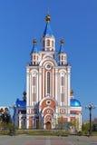 Antagandedomkyrka i Khabarovsk, Ryssland Royaltyfri Fotografi