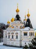 Antagandedomkyrka i Kreml av staden av Dmitrov, Ryssland Arkivfoton