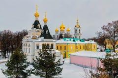Antagandedomkyrka i Kreml i Dmitrov, Ryssland Royaltyfri Foto