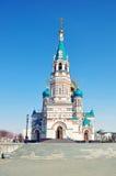 Antagandedomkyrka i Omsk, Ryssland Arkivbilder