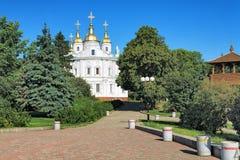 Antagandedomkyrka i Poltava, Ukraina Royaltyfria Bilder