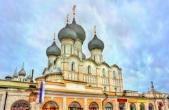 Antagandedomkyrka i Rostov Veliky, Yaroslavl Oblast av Ryssland Arkivbilder