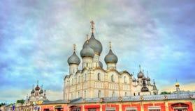 Antagandedomkyrka i Rostov Veliky, Yaroslavl Oblast av Ryssland Royaltyfria Bilder