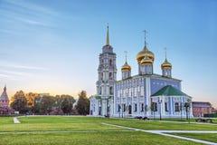 Antagandedomkyrka i Tula kremlin, Ryssland Arkivbilder