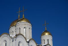Antagandedomkyrka i Vladimir, Ryssland Fotografering för Bildbyråer