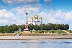 Antagandedomkyrka i Yaroslavl Arkivbilder