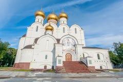 Antagandedomkyrka i Yaroslavl Royaltyfri Fotografi