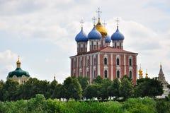 antagandedomkyrka kremlin russia ryazan Fotografering för Bildbyråer