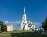 Antagandedomkyrka på Vladimir, Ryssland Arkivbilder
