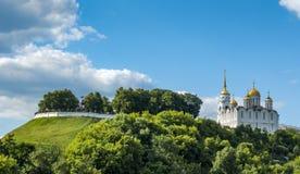 Antagandedomkyrka på Vladimir, Ryssland Royaltyfria Foton