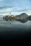 Antagandekyrka, i blött, Slovenien arkivbilder