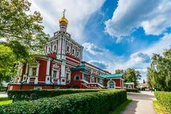 Antagandekyrka - rysk barock Arkivbilder