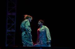 Antagon-Theater aktion Stockfotografie
