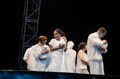Antagon-Theater aktion Stockfotos