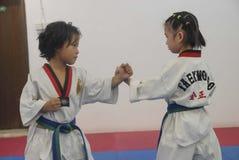 Antagonism training-Taekwondo training hall Royalty Free Stock Photo