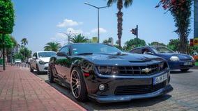 Antalia Turcja, LIPIEC, - 15, 2015: Chevrolet Camaro Gorący koła edi fotografia royalty free