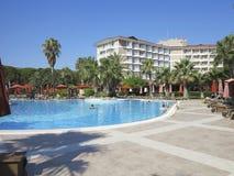 08 07 2014 Antalia, Turkiet, turkiskt semesterorthotell Arkivfoto