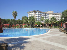 08 07 2014, Antalia, Turquía, hotel turístico turco Foto de archivo