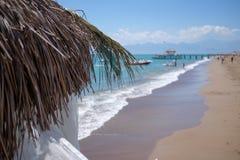 Antaly Beach. Photo from a beach in Antalya, Turkey stock image