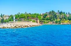 Antalya από τη θάλασσα Στοκ φωτογραφία με δικαίωμα ελεύθερης χρήσης