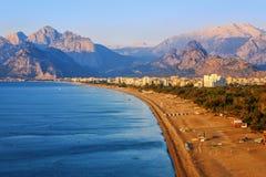 Antalya, παραλία άμμου Konyaalti, Τουρκία Στοκ Φωτογραφία