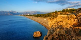 Antalya, παραλία άμμου Konyaalti, Τουρκία Στοκ εικόνα με δικαίωμα ελεύθερης χρήσης
