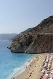 Antalya παραλιών Kaputas kas Στοκ εικόνα με δικαίωμα ελεύθερης χρήσης