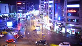 Antalya, Τουρκία - 17 Αυγούστου 2018: Βίντεο πόλης φω'των νύχτας Antalya, Τουρκία, στις 17 Αυγούστου 2018 απόθεμα βίντεο