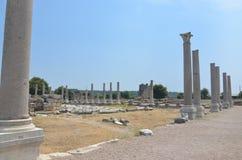 Antalya, Τουρκία, η αρχαία πόλη Perge, αρχαίοι ρωμαϊκοί χρόνοι και τα γεγονότα εδώ Στοκ Φωτογραφία