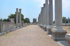 Antalya, Τουρκία, η αρχαία πόλη Perge, αρχαίοι ρωμαϊκοί χρόνοι και τα γεγονότα εδώ Στοκ εικόνα με δικαίωμα ελεύθερης χρήσης