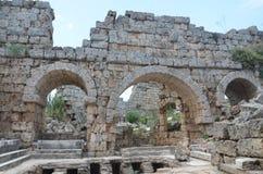 Antalya, Τουρκία, η αρχαία πόλη Perge, αρχαίοι ρωμαϊκοί χρόνοι και τα γεγονότα εδώ Στοκ εικόνες με δικαίωμα ελεύθερης χρήσης