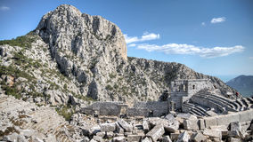 Antalya, Τουρκία - 24 Οκτωβρίου, 203: Τοπ άποψη του αμφιθεάτρου της παλαιάς πόλης Termessos σε Antalya Στοκ Εικόνα