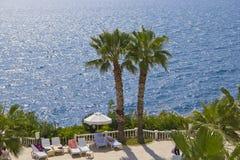 Antalya Τουρκία παραλιών θάλασσας Στοκ Φωτογραφίες