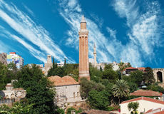 Antalya. Close up shot of Yivli minaret in Antalya,Turkey Royalty Free Stock Photos