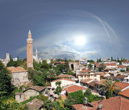 Antalya. Close up shot of Yivli minaret in Antalya,Turkey Royalty Free Stock Images