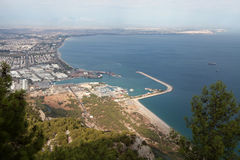 Antalya as seem from Tunektepe. Royalty Free Stock Images
