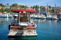Antalya boat royalty free stock photos